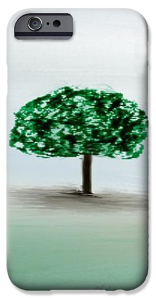 Gina Lee Manley iPhone Cases - The Lone Tree iPhone Case by Gina Lee Manley