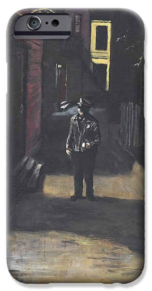 Jack Skinner Paintings iPhone Cases - The Lonely Beat iPhone Case by Jack Skinner