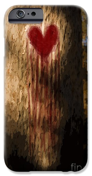First Love iPhone Cases - The Lonely Tree iPhone Case by Ryan Jorgensen