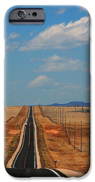 The long road to Santa Fe iPhone Case by Susanne Van Hulst