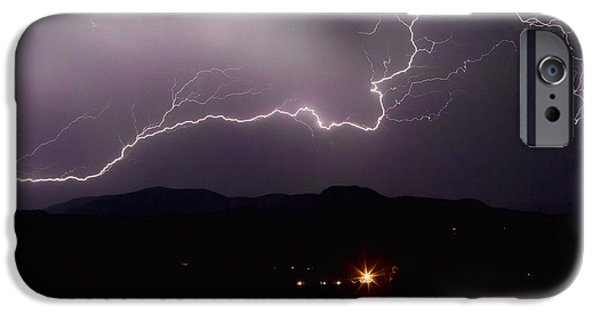 Lightning Images iPhone Cases - The Long Strike iPhone Case by James BO  Insogna