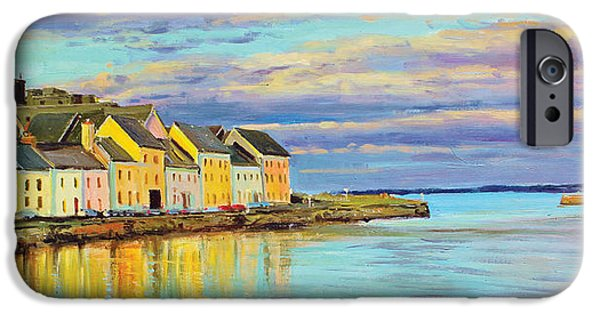 City Scape iPhone Cases - The Long Walk Galway iPhone Case by Conor McGuire