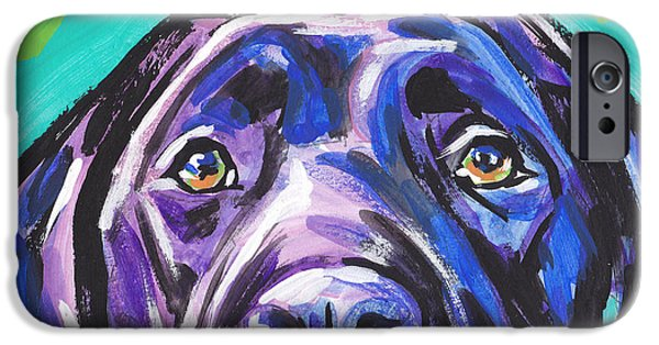 Labrador Puppy iPhone Cases - The Look of Lab iPhone Case by Lea