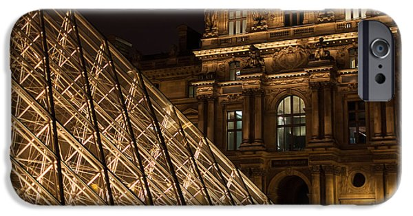 Historic Site iPhone Cases - The Louvre By Night iPhone Case by Marcus Karlsson Sall