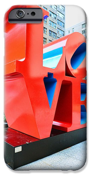 The Love Sculpture iPhone Case by Paul Ward