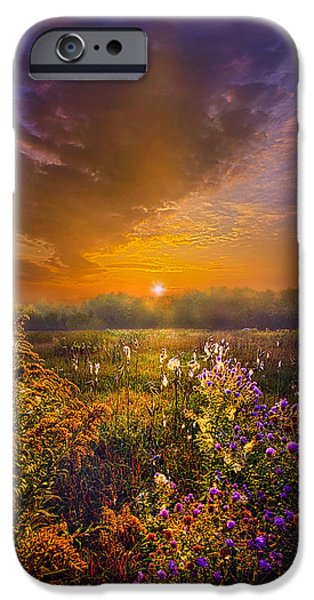 Floral Photographs iPhone Cases - The Love That Lights My Way iPhone Case by Phil Koch