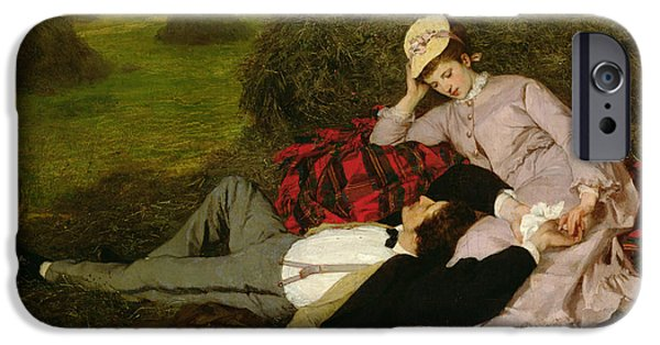 Blanket iPhone Cases - The Lovers iPhone Case by Pal Szinyei Merse