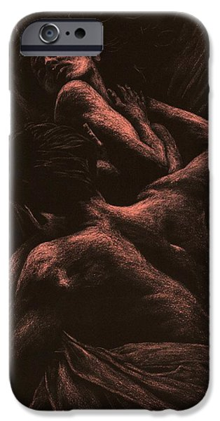 Couple iPhone Cases - The Lovers iPhone Case by Richard Young