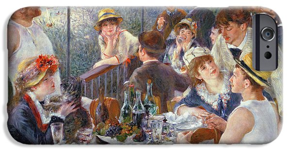 Impressionist iPhone Cases - The Luncheon of the Boating Party iPhone Case by Pierre Auguste Renoir