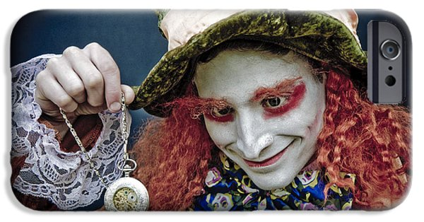 Alice In Wonderland iPhone Cases - The Mad Hatter iPhone Case by Mick House