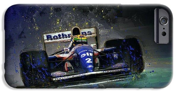 Ayrton Senna iPhone Cases - The Maestro iPhone Case by Alan Greene