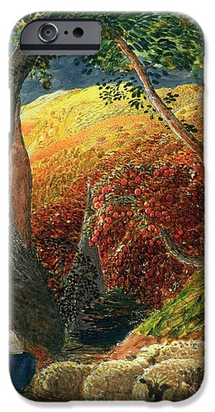 Overhang iPhone Cases - The Magic Apple Tree iPhone Case by Samuel Palmer