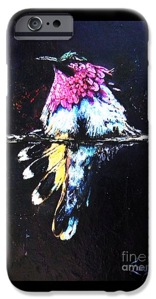 Sheets iPhone Cases - Hummingbird Magic iPhone Case by Lucy Max