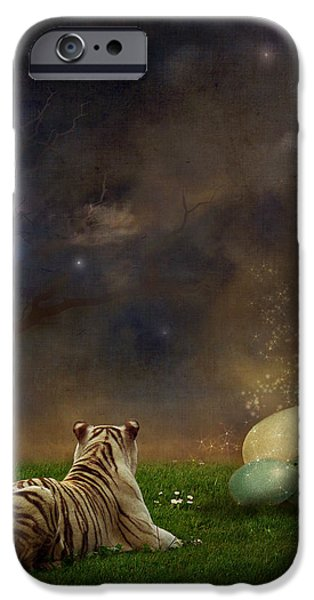 Surreal Landscape Digital iPhone Cases - The magical of life iPhone Case by Martine Roch