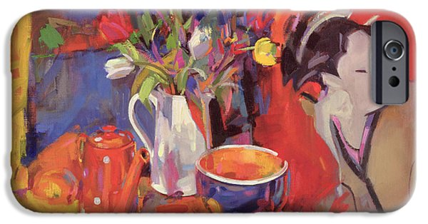 Chinese Woman iPhone Cases - The Magical Table iPhone Case by Peter Graham