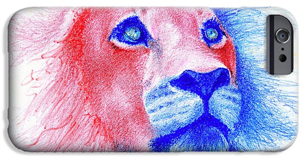 Lion Art iPhone Cases - The Majestic Majesty  iPhone Case by Fithi Abraham