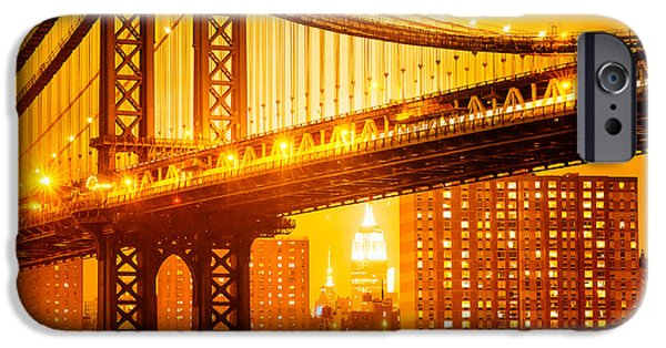 Empire State iPhone Cases - The Majestic Metropolis I iPhone Case by Yohei Koinuma