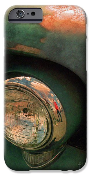 Rusted Cars iPhone Cases - The Man at the Car Show iPhone Case by Tara Turner