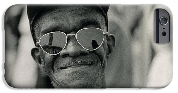 Martin Luther King Jr iPhone Cases - The March on Washington  A Smiling Man at Washington Monument Grounds iPhone Case by Nat Herz