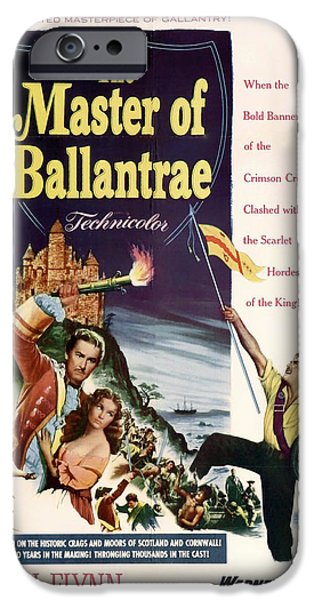 1950s Movies Mixed Media iPhone Cases - The Master of the Ballantrae 1953 iPhone Case by Mountain Dreams