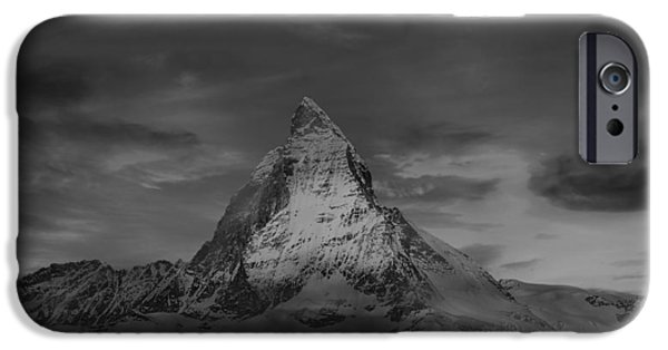 Swiss Landscape iPhone Cases - The Matterhorn At Sunset iPhone Case by Klausdie