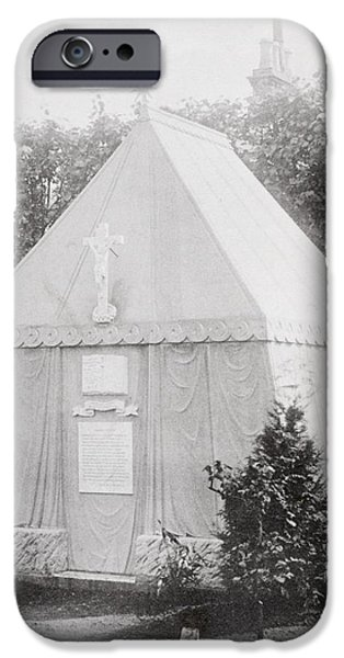 Bedouin iPhone Cases - The Mausoleum At Mortlake, Surrey Where iPhone Case by Ken Welsh