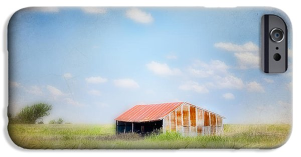 Farm Building iPhone Cases - The Meeting Place iPhone Case by Betty LaRue