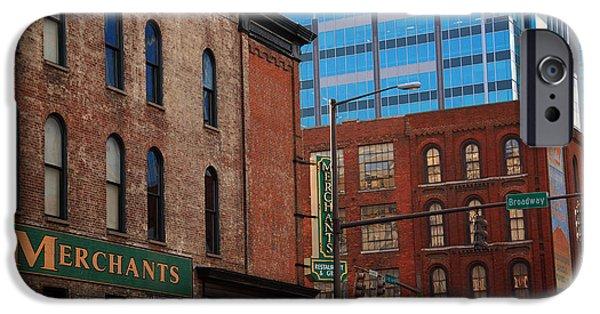 Nashville Architecture iPhone Cases - The Merchants Nashville iPhone Case by Susanne Van Hulst