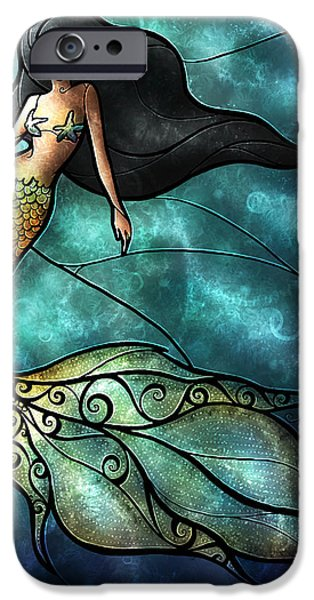 Fairy Tale iPhone Cases - The Mermaid iPhone Case by Mandie Manzano