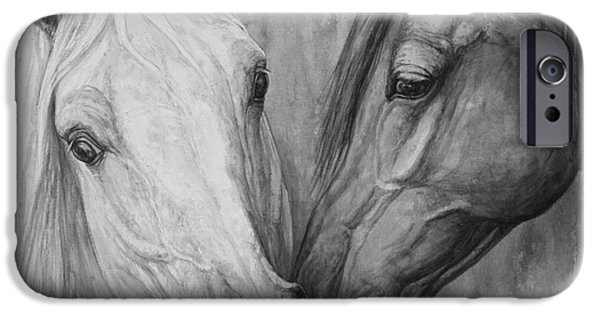 Horse Artist iPhone Cases - The Message iPhone Case by Silvana Gabudean