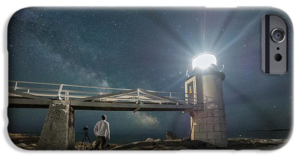 Maine iPhone Cases - The Midnight Explore 2  iPhone Case by Michael Ver Sprill