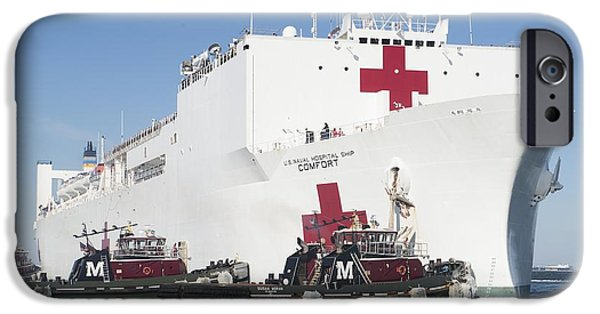 Weapon Mixed Media iPhone Cases - The Military Sealift Command hospital ship USNS Comfort iPhone Case by Celestial Images