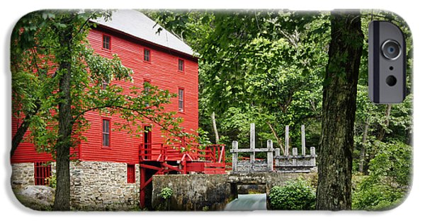 Grist Mill iPhone Cases - The Mill at Alley Spring iPhone Case by Cricket Hackmann