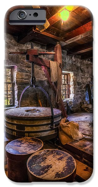 Grist Mill iPhone Cases - The Milling Room iPhone Case by Mark Papke