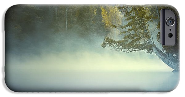 Mist iPhone Cases - The Mists of Hunt Lake iPhone Case by Stuart Deacon