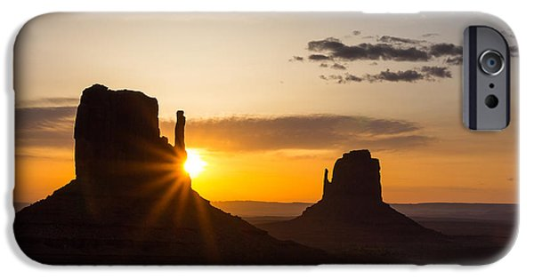 United States iPhone Cases - The Mittens at Sunrise iPhone Case by Penny Meyers