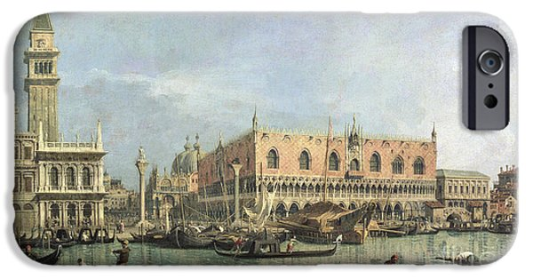 Venetian Canals iPhone Cases - The Molo and the Piazzetta San Marco iPhone Case by Canaletto