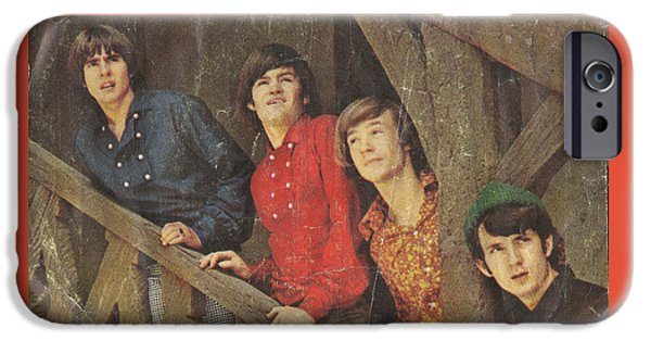 Monkey iPhone Cases - The Monkees Last Train to Clarksville 45 Sleeve iPhone Case by Edward Fielding