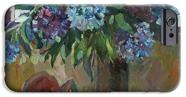 Flower Of Life iPhone Cases - The Montenegrin hydrangea iPhone Case by Juliya Zhukova