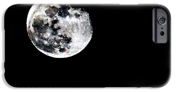 Moon Light iPhone Cases - The Moon iPhone Case by Cherie Duran