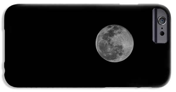 Cut-outs iPhone Cases - The Moon iPhone Case by Daniel Precht