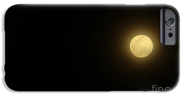 Moon Pyrography iPhone Cases - The Moon I iPhone Case by Khun Nithiwadee
