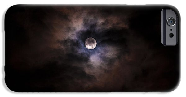 Moon Pyrography iPhone Cases - The Moon iPhone Case by Matthew Goodman