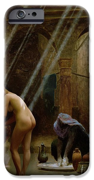 Middle East iPhone Cases - The Moorish Bath iPhone Case by Jean Leon Gerome