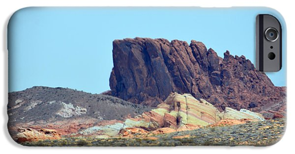 Red Rock Tapestries - Textiles iPhone Cases - The Multi Color Stones and Boulder II iPhone Case by Edna Weber