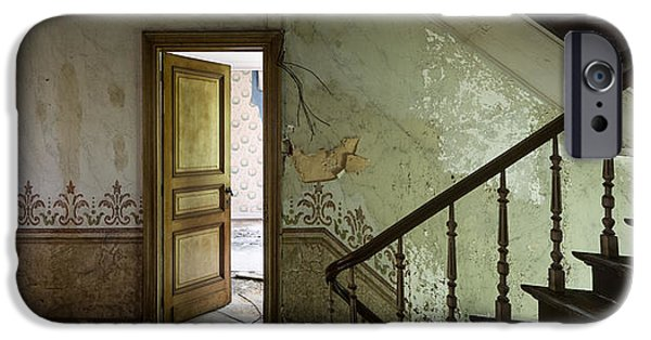 Haunted House iPhone Cases - The mystery room - urban decay iPhone Case by Dirk Ercken