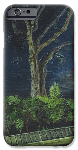 Michelle iPhone Cases - The Mystery Tree at Palm Point Drive iPhone Case by Donna Mann