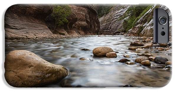 Recently Sold -  - River iPhone Cases - The Narrows Zion National Park iPhone Case by John McGraw