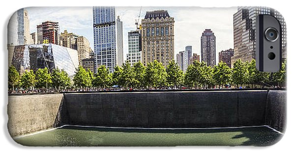 Twin Towers Nyc Digital iPhone Cases - The National September Memorial Museum iPhone Case by Perry Van Munster