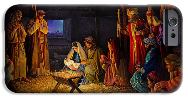 Baby Jesus iPhone Cases - The Nativity iPhone Case by Greg Olsen